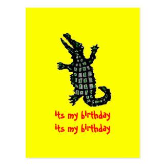 Cartão Postal seu meu crocodilo do aniversário