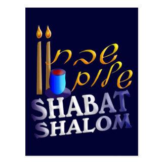 Cartão Postal Shabat Shalom