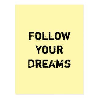 Cartão Postal Siga seus sonhos