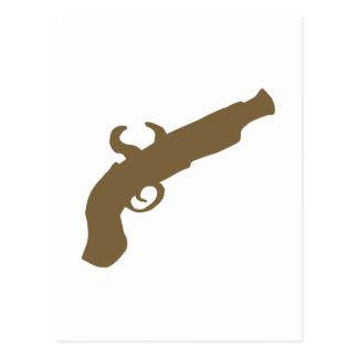 Cartão Postal Silhueta da pistola do sílex