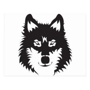 cartões postais silhueta lobo zazzle pt