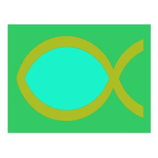 Cartão Postal Símbolo cristão dos peixes