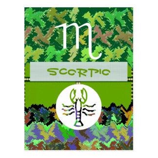 Cartão Postal Símbolo do zodíaco da ESCORPIÃO