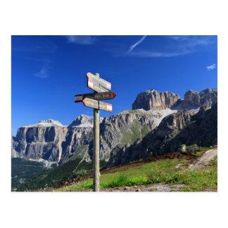 Cartão Postal sinais e dolomites