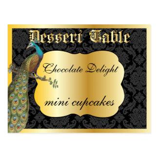 Cartão Postal Sinal da mesa de bufete da sobremesa ou dos doces