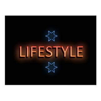 Cartão Postal Sinal de néon do estilo de vida