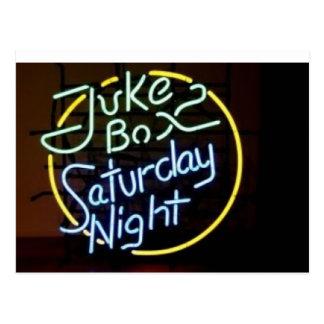 Cartão Postal Sinal de néon do jukebox