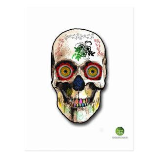 Cartão Postal skull mexican