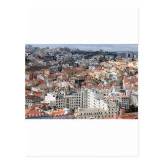 Cartão Postal Skyline da cidade de Lisboa