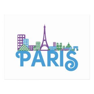 Cartão Postal Skyline de Paris