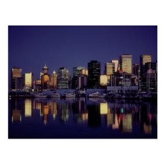 Cartão Postal Skyline de Vancôver, Columbia Britânica, Canadá