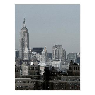 Cartão Postal Skyline e Brooklyn de New York