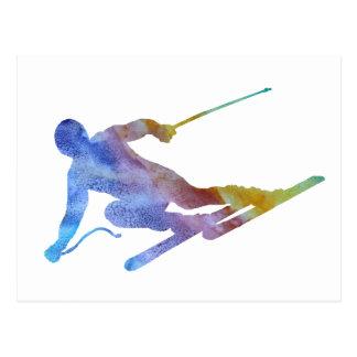 Cartão Postal Slalom do arco-íris