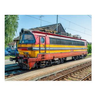 Cartão Postal Slovakia ZSSK locom elétrico. tipo 240