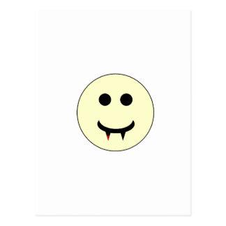 Cartão Postal Smiley do vampiro