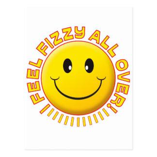 Cartão Postal Smiley efervescente da sensação