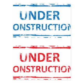 Cartão Postal Sob o selo da construção
