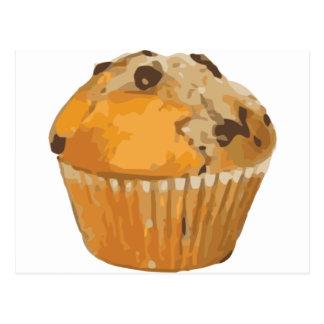 Cartão Postal Sobremesa deliciosa do muffin de blueberry