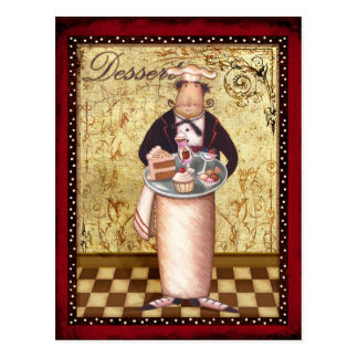 Cartão Postal Sobremesa do cozinheiro chefe