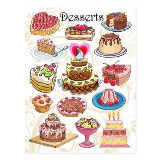 Cartão Postal Sobremesas