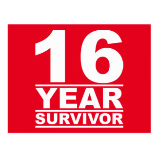 Cartão Postal sobrevivente de 16 anos