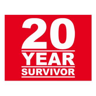 Cartão Postal sobrevivente de 20 anos