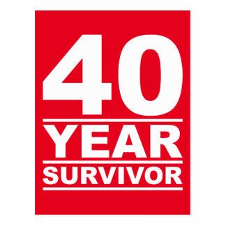 Cartão Postal sobrevivente de 40 anos