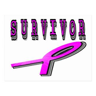 Cartão Postal Sobrevivente do cancro da mama