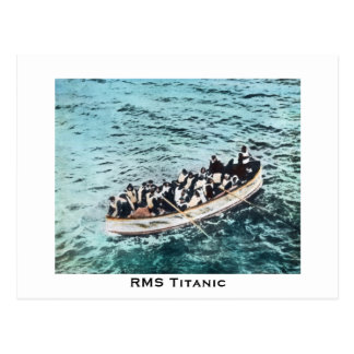 Cartão Postal Sobreviventes titânicos do RMS no vintage dos