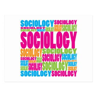 Cartão Postal Sociologia colorida