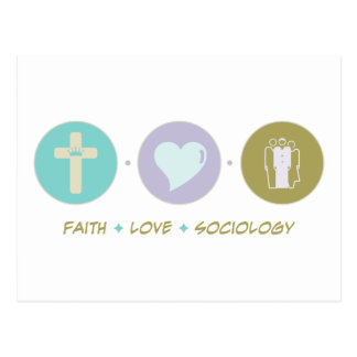 Cartão Postal Sociologia do amor da fé