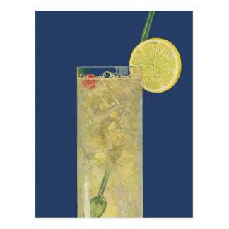 Cartão Postal Soda da limonada ou da fruta do vintage, bebidas