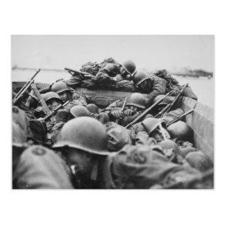 Cartão Postal Soldados aliados da segunda guerra mundial que