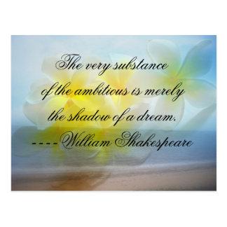 Cartão Postal Sombra do ~ das citações de Shakepeare de um sonho