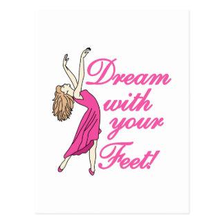 Cartão Postal Sonho com pés