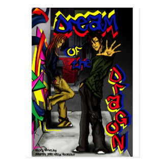 """Cartão Postal """"Sonho do Dragão-Chillin"""" em NYC"""