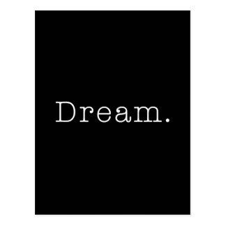 Cartão Postal Sonho. Modelo ideal preto e branco das citações