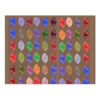 Cartão Postal Sonhos coloridos: Diamantes, pérolas dos rubis n