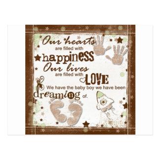 Cartão Postal Sonhos do bebé