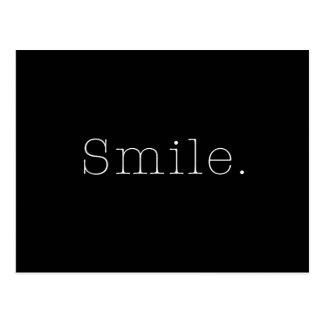 Cartão Postal Sorriso. Modelo preto e branco das citações do