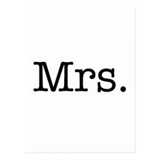 Cartão Postal Sra. preto e branco citações do aniversário de