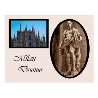 Cartão Postal St Bartholomew na catedral de Milão