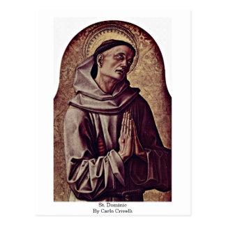 Cartão Postal St Dominic por Carlo Crivelli