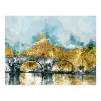 Cartão Postal St Peter na Cidade do Vaticano Roma Italia