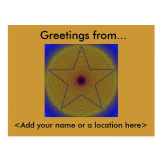 Cartão Postal Starburst