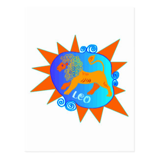 Cartão Postal Starburst Leo