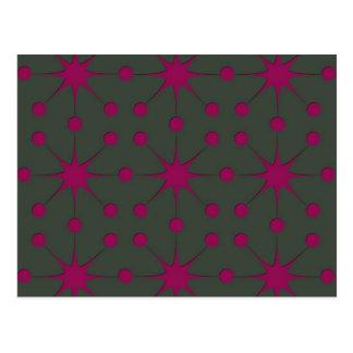 Cartão Postal Starbursts cor-de-rosa