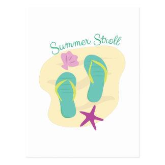 Cartão Postal Stroll do verão