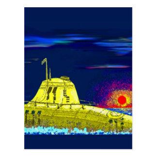 Cartão Postal Submarino amarelo