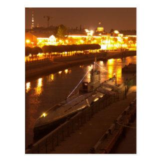 Cartão Postal Submarino em St Petersburg